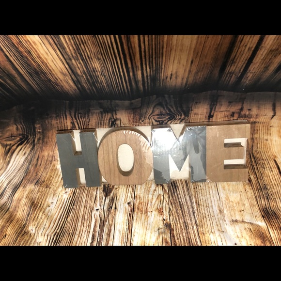 Other - Large HOME wooden decor letters wall hanging
